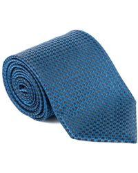 Tom Ford - Mens Dark Blue Dimond Grid Dot Silk Classic Tie - Lyst