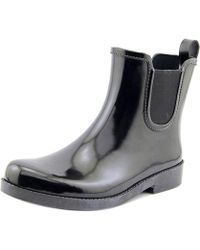 COACH - Womens Tyler Rubber Closed Toe Ankle Rainboots Rainboots - Lyst