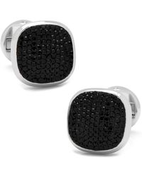 Ox and Bull Trading Co. - Black Pave Crystal Cufflinks - Lyst