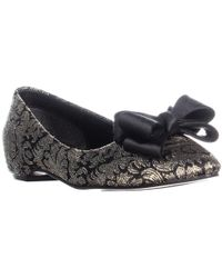 Caparros - Princess Front Bow Ballet Flats, Black Gold - Lyst