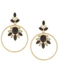 Sparkling Sage - 14k Plated Crystal Drop Earrings - Lyst