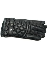 Lyst - Calvin klein Matte Quilted Gloves in Black for Men : quilted leather gloves mens - Adamdwight.com