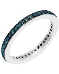 Barzel - Sterling Silver 0.38cttw Genuine Blue Diamond Ring - Lyst
