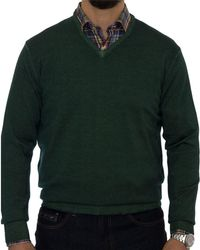 Robert Talbott - Aptos Wool V-neck Jumper - Lyst