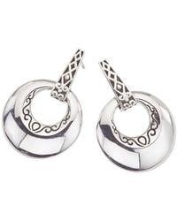 Jewelista | Oxidized Sterling Silver Earrings | Lyst