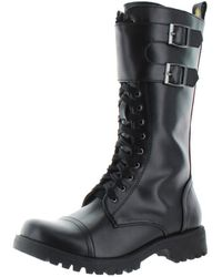 Volatile - Womens Tank Lace-up Mid Calf Combat Boots - Lyst