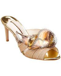 9d42fb232fb Sophia Webster - Soleil Glitter Leather Sandal - Lyst
