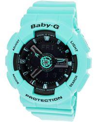 G-Shock - Women's Baby-g Ba111-3a Aqua Rubber Japanese Quartz Fashion Watch - Lyst