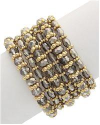 Sparkling Sage - 14k Plated Resin Stretch Bracelet - Lyst