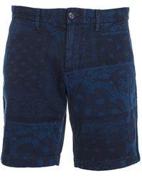 Tommy Hilfiger - Men's Mw0mw06137416 Blue Cotton Shorts - Lyst