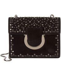 Ferragamo - Thalia Studded Suede Shoulder Bag - Lyst