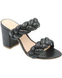 Rachel Zoe - Demi Braid Leather Sandal - Lyst