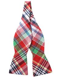 Skinny Tie Madness - Men's Red Plaid Bow Tie - Lyst