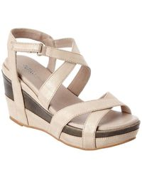 Antelope - 696 Leather Wedge Sandal - Lyst