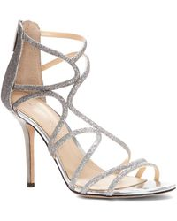Imagine Vince Camuto - Ranee Glitter Strappy Sandals - Lyst