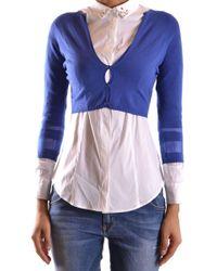 Liu Jo - Women's Blue Polyester Cardigan - Lyst