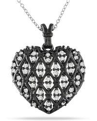 Catherine Malandrino - Heart Pendant With Chain - Lyst