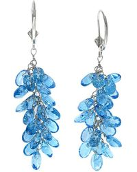 Effy - Fine Jewelry 14k 21.67 Ct. Tw. Blue Topaz Drop Earrings - Lyst