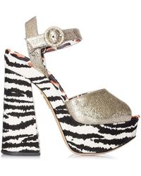 Charlotte Olympia - Women's S1647671094 Multicolor Leather Sandals - Lyst