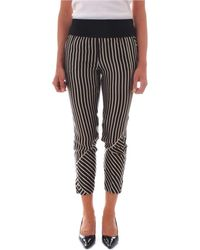 Manila Grace - Women's P113sgblack Black Cotton Pants - Lyst