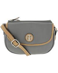 Giani Bernini - Womens Faux Leather Contrast Trim Saddle Handbag - Lyst