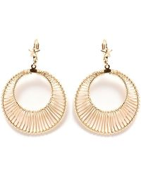 Peermont - Gold Wired Circle Earrings - Lyst