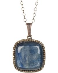 Adornia - Kyanite And Champagne Diamond Zora Necklace - Lyst