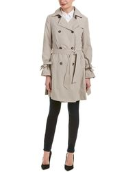 French Connection - Double-breasted Trench Coat - Lyst