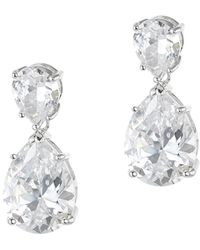 CZ by Kenneth Jay Lane | Plated Drop Earrings | Lyst