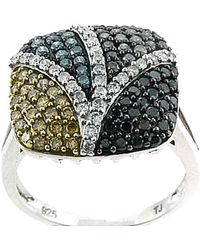 Tia Collections - 1.15ctw Color Diamond Fashion Ring In .925 - Lyst