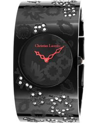 Christian Lacroix - Women's Black Ion Plated Ss And Dial Ip Ss - Lyst