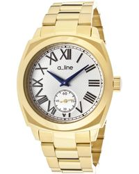 A_line - Pyar Gold-tone Stainless Steel Silver-tone Dial Gold-tone Ss - Lyst