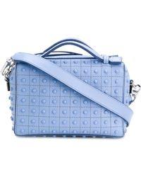 Tod's - Women's Light Blue Leather Shoulder Bag - Lyst