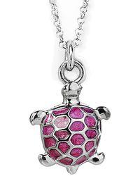 Jan Leslie - Enamel Turtle Pendant / Charm Necklace - Lyst