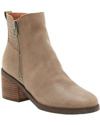 Lucky Brand - Kalie Leather Boot - Lyst