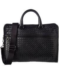 Bottega Veneta - Intrecciato Leather Briefcase - Lyst