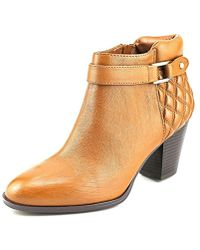 Alfani - Wakefeld Women Pointed Toe Leather Brown Bootie - Lyst