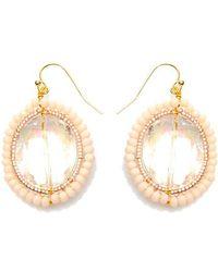 Nakamol - Crystal Eye Earrings-cream - Lyst