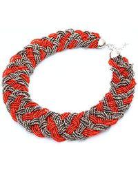 Nakamol - Marja Necklace-red/grey - Lyst