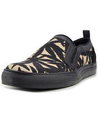 MSGM - 2040ms04 Men Round Toe Canvas Black Loafer - Lyst