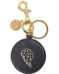 Moschino - Women's Black Leather Key Chain - Lyst