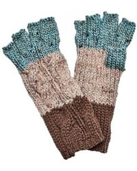 San Diego Hat Company - Women's Knit Patchwork Fingerless Glove Kng3459 - Lyst