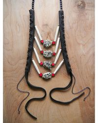 Love Leather - Spot Rocked Necklace - Lyst