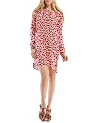 Blue Plate - Pink & Blue Hearts Printed Tunic Dress - Lyst