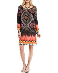 Blue Plate - Purple Geometric Print Printed Tunic Dress - Lyst