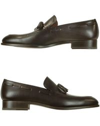 Fratelli Rossetti - Men's Brown Leather Loafers - Lyst