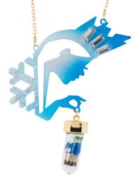 Les Nereides - Snow Kingdom The Snow Queen And Kay Trapped In A Block Of Ice Long Necklace - Lyst