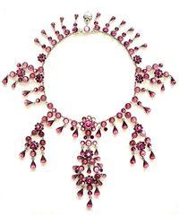 Otazu - Vintage-inspired Amethyst Cabuchon Necklace - Lyst