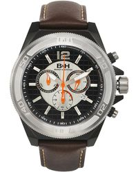 Brandt & Hoffman - Men's Brown And Black Swiss Chronograph 'priestley' Watch - Lyst
