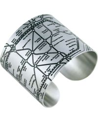 Designhype - London Tube Cuff Black - Lyst